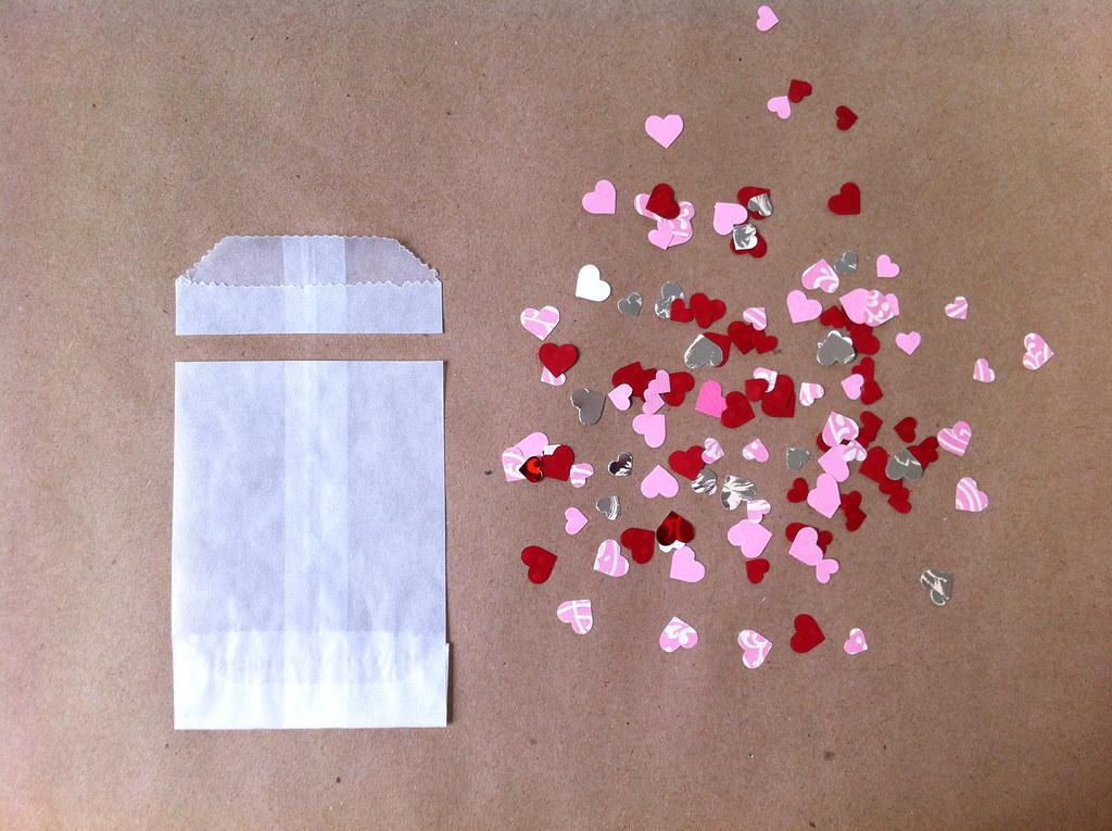 Glassine with confetti