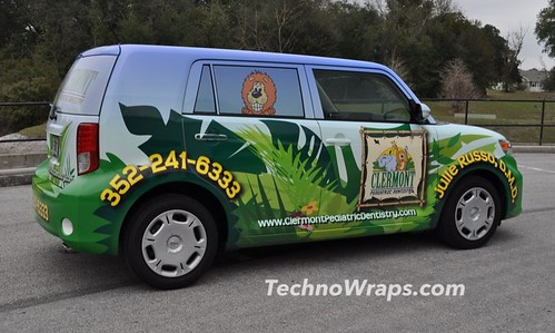 Scion auto vinyl auto wrap