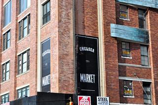 Fachada del mercado de Chelsea, conservando su vieja arquitectura típica del Meatpacking District