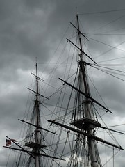 sailing ship, vehicle, mast, tall ship, watercraft, brig,