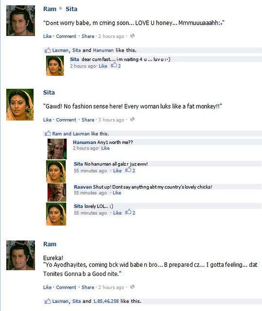 Hanuman comments on Facebook