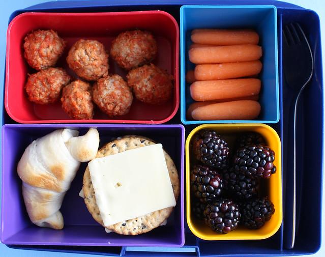 Third Grader Meatball Bento #713