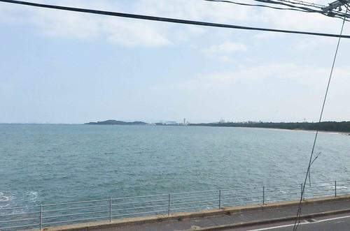 Hakata Bay from the Train