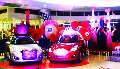SM City Naga Valentines Display 2