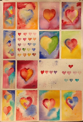 Hearts by Joe Mraz Watercolors