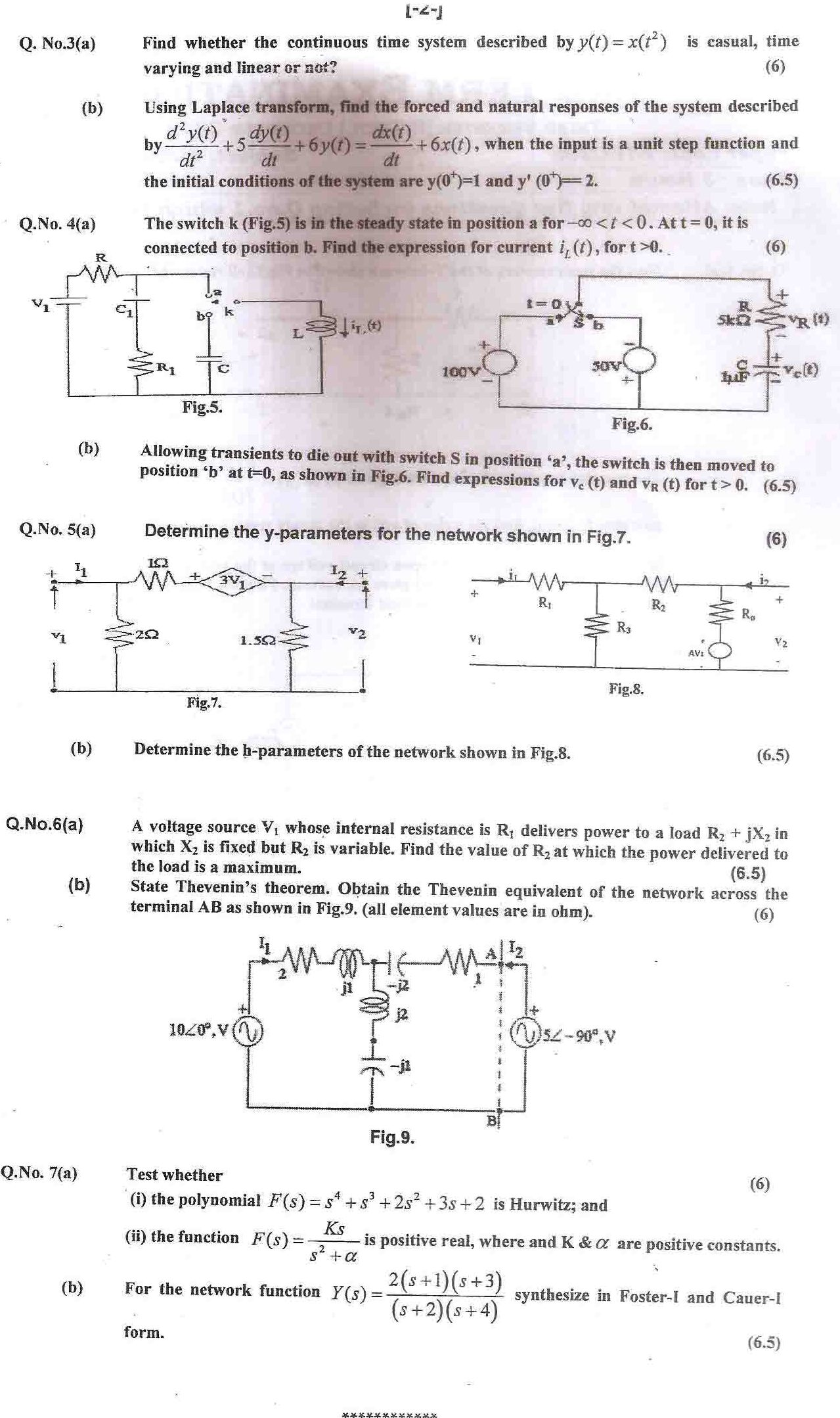 GGSIPU Question Papers Third Semester – End Term 2012 – ETEC-205