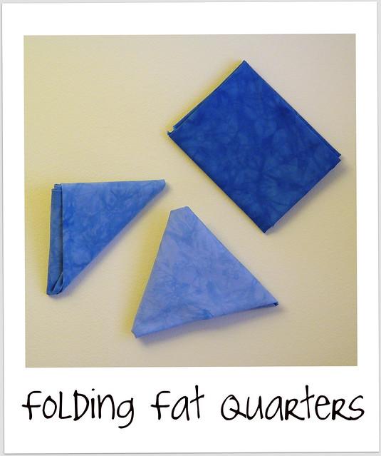 folding fat quarters