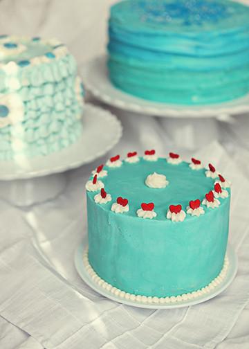 Blue Cake Trio