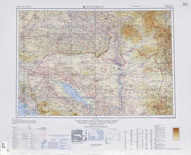 SHEET ND 48 - Một phần khu vực Tây nguyên VN và nửa phía bắc Cam Bốt 1962. Tỷ lệ 1/1.000.000