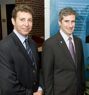 Shai Agassi and Michael Granoff, Asper Award Recipients