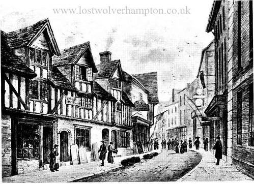 Old Lichfield Street circa 1863.