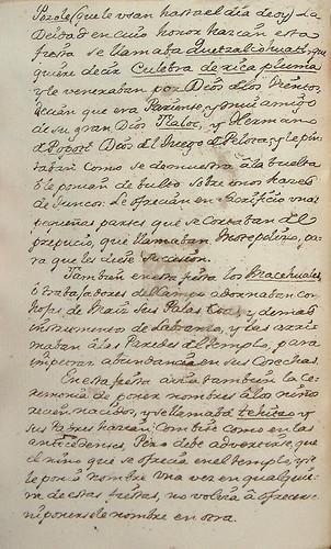 009-Continuacion texto cuarta fiesta-Códice Veitia- Biblioteca Virtual Miguel de Cervantes