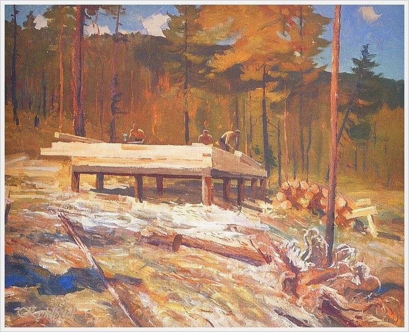 Титов Юрий Александрович (Россия, 1926 - 1998) «Так строился первый дом города Нерюнги»