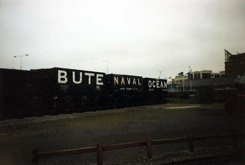 Three Coal Trucks: Bute, Naval, Ocean at the Welsh Maritime and Industrial Museum, Cardiff Docks