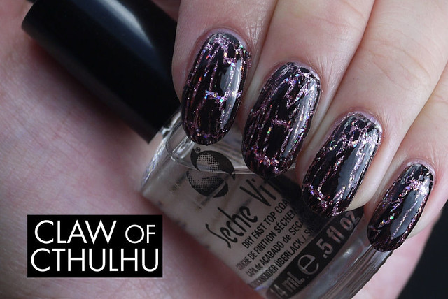 OPI Teenage Dream with Black Shatter Swatch