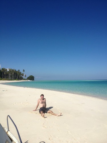 Me on beach at Sibuan Island