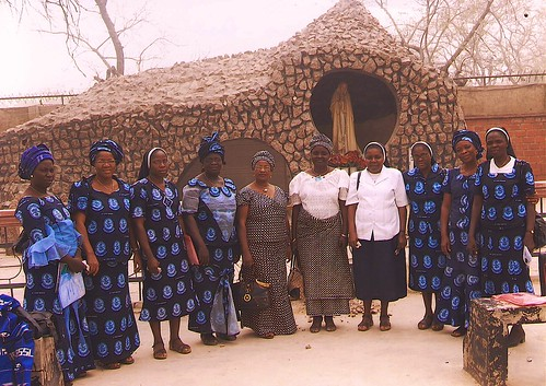 Some of our Nigeria associates pictured with the Sisters of St Louis