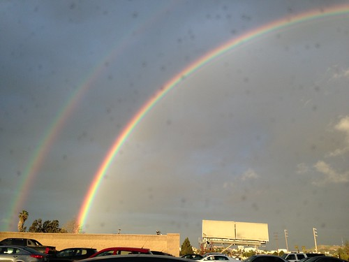 Double rainbow in LA - Mar 8, 2013