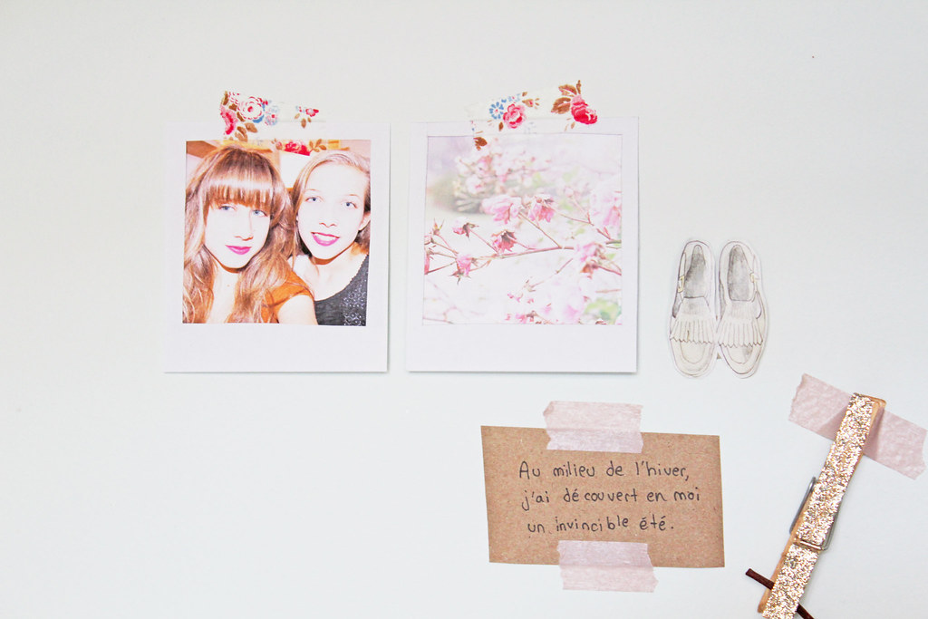 polaroid wall deco