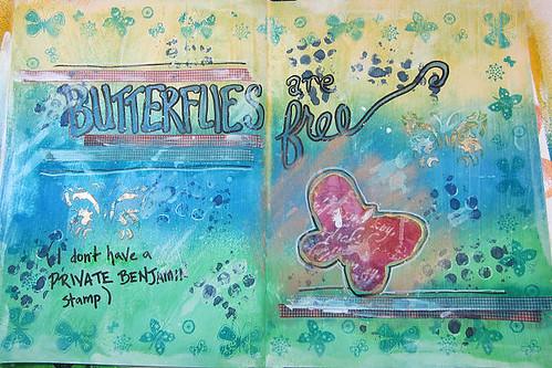 Art Journal: Butterflies are Free