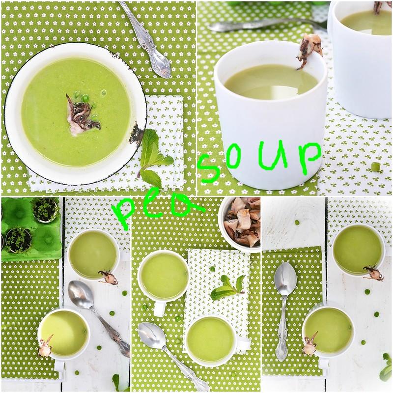 коллаж гороховый суп с кальмаром