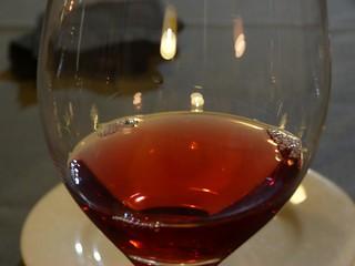 Copa de vino en Concejo Hospedería (Valoria la Buena, Valladolid)