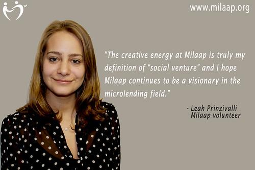 Milaap Volunteer: Leah Prinzivalli   Milaap