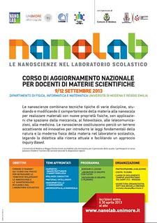 Nanolab Le nanoscienze nel laboratorio scolastico