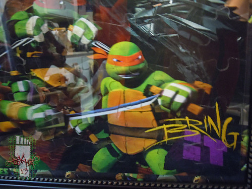 CARDINAL :: Nickelodeon TEENAGE MUTANT NINJA TURTLES - 48 Piece Lenticular Puzzle // tOkKustom matte & framed vi  (( 2012 ))