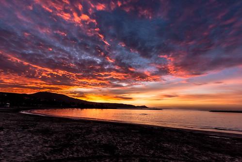 ocean pink sea sky seascape clouds sunrise canon tenerife lasamericas eos50d flickraward