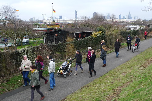 Spaziergang mit FritzDeutschland im Gallus. März 2013