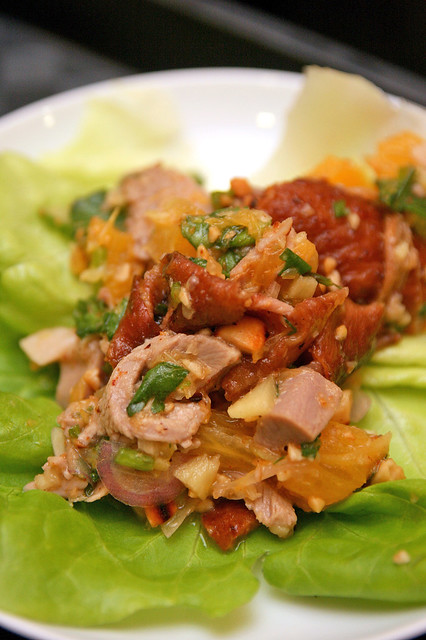 Orange Roasted Duck in Lettuce Cups