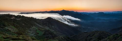 california sunset fog clouds landscape losangeles pacific santamonica foggy malibu pacificocean southerncalifornia pacificcoast califorina clouderfall