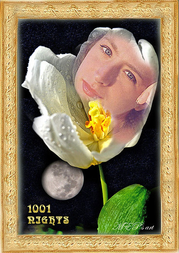 a tulip for a magic Spring decoration in 1001 Nights world