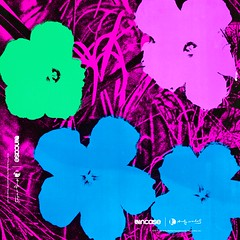 Flowers Techno Blue