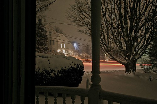 Snow Plow Light Trail