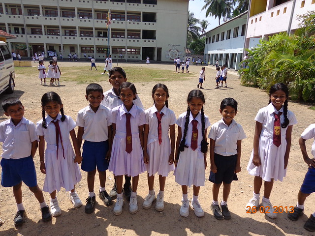 Primary school children in Sri Lanka
