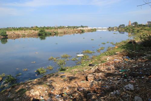 River Cooum along Swamy Sivananda Salai, Chepauk