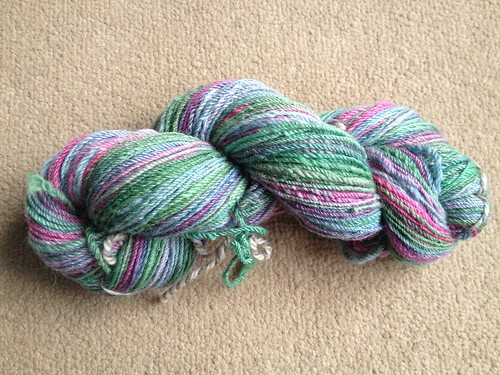Greenish yarn