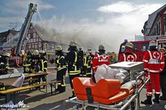 Dachstuhlbrand Groß-Gerau 24.03.13