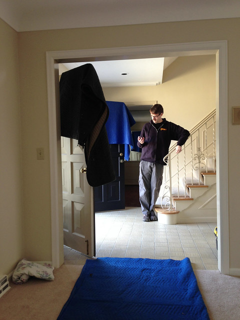 Aaron Supervising the Movers