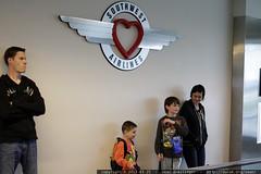 rachel putting her boys on a plane to see grandma ne…