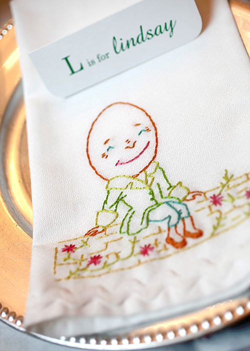 Humpty Dumpty Embroidered Napkins