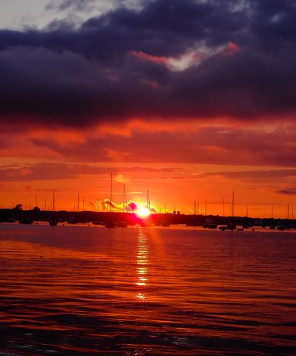 Newport Rhode Island Sunset 1- by mikemanning84 via I {heart} Rhody