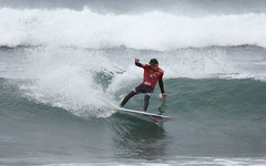 Leonardo Fioravanti advanced to the final and looked like the in-form surfer of the event thus far.
