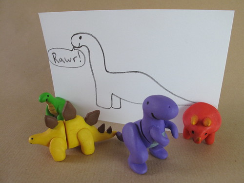 The complete set of fimo magnet dinosaurs