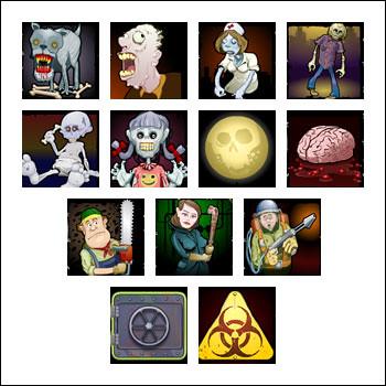 free Zombiezee Money slot game symbols