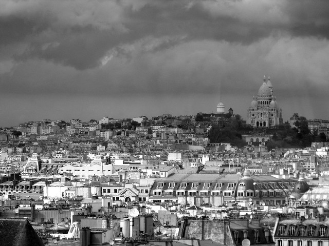 Sky over Paris ~ Looking from Pompidou Center to Sacre-Coeur