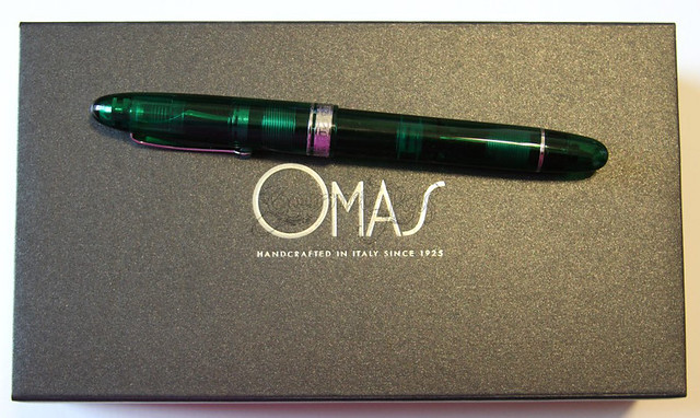 Omas Ogiva Vision LE Green Resin Fountain Pen