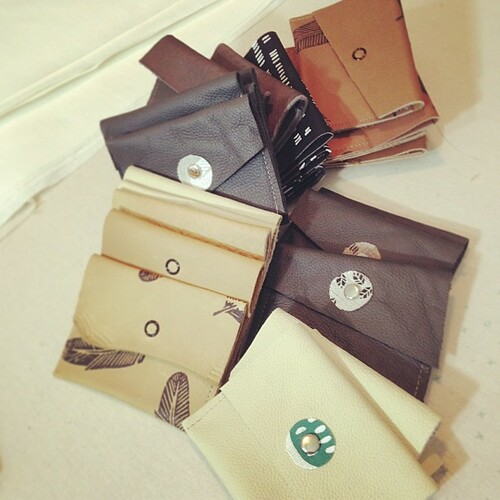 Little snap wallets, all in a row...